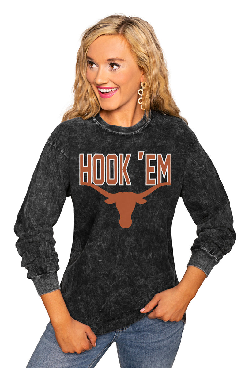"Texas Longhorns ""Fourth Down"" Retro Mineral Wash Crew - Gameday Couture"