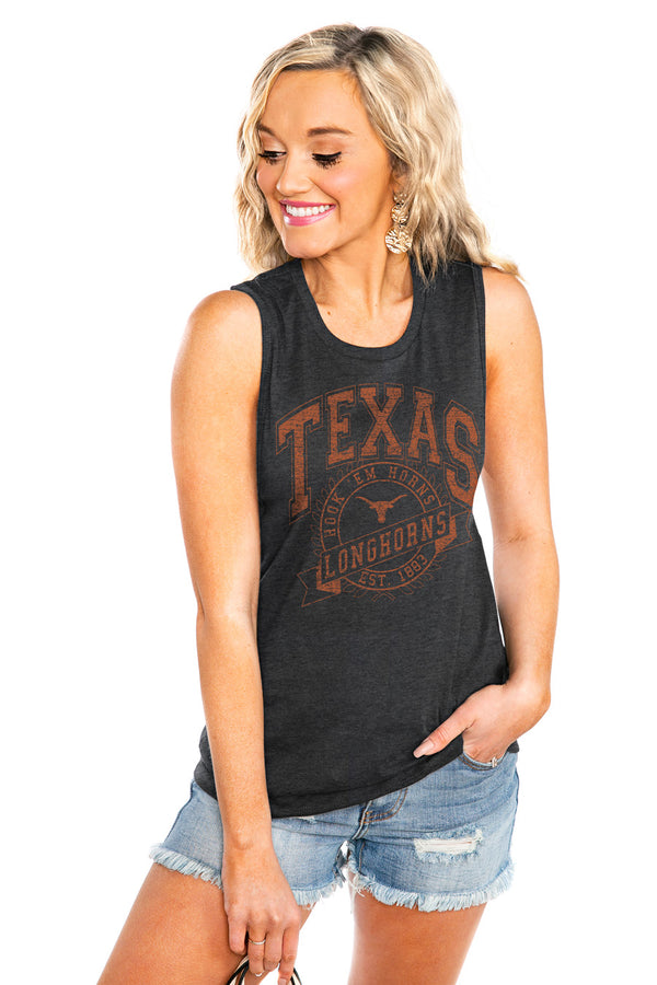"TEXAS LONGHORNS ""NEVER BETTER"" JERSEY MUSCLE TANK - Shop The Soho"