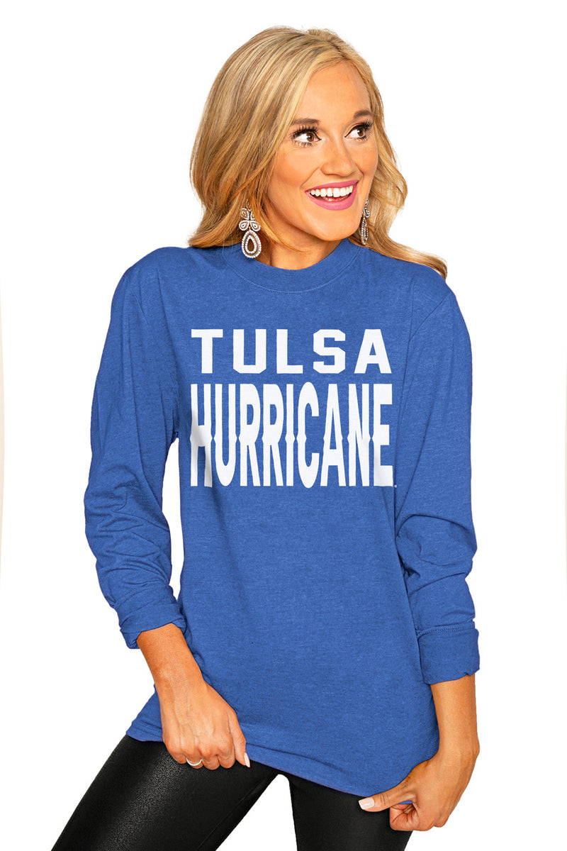"TULSA GOLDEN HURRICANE ""GO FOR IT"" Luxe Boyfriend Crew Tee - Gameday Couture"