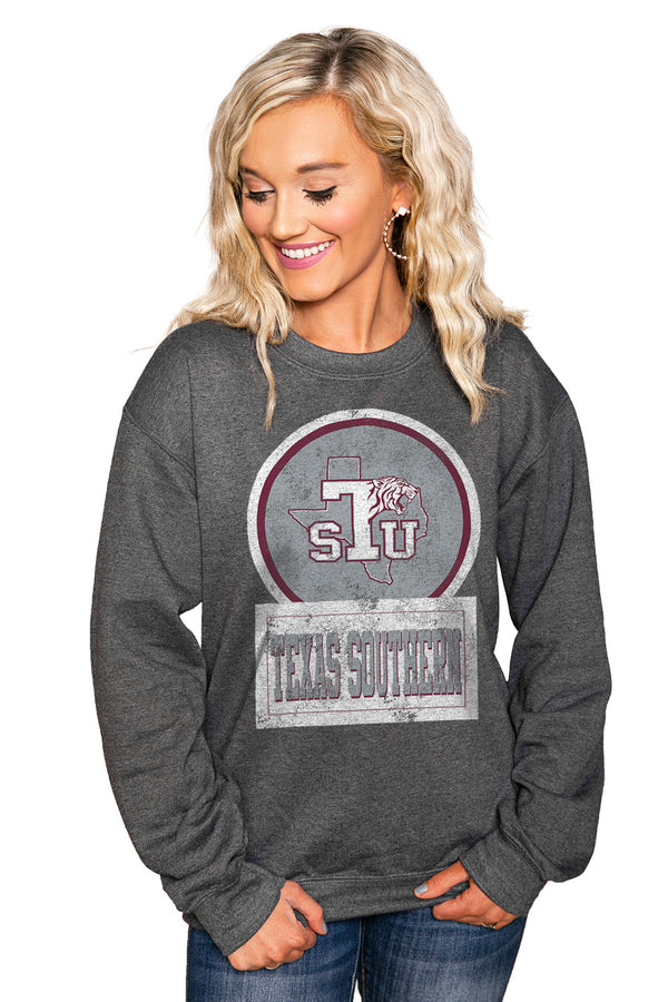 "TEXAS SOUTHERN UNIVERSITY ""GOOD VIBES"" Perfect Crew Sweatshirt - Gameday Couture"