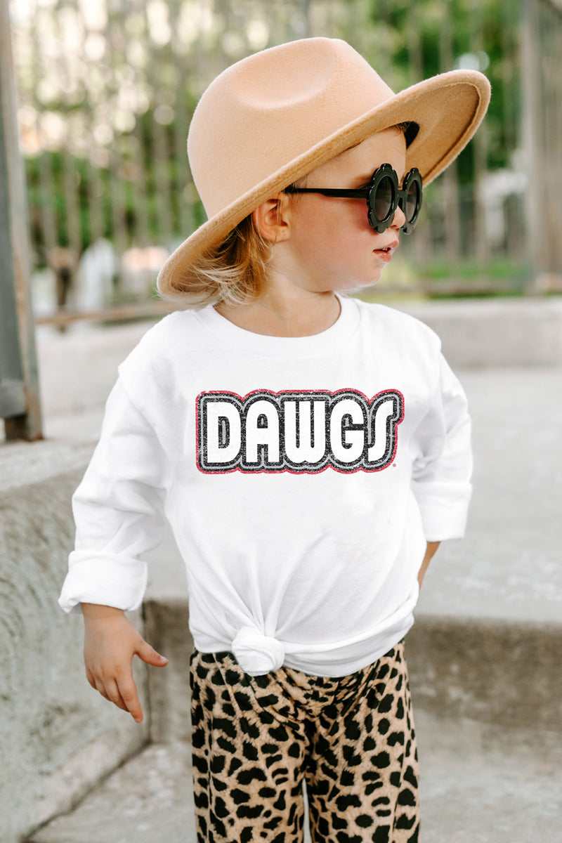 "Georgia Bulldogs ""It's A Win"" Toddler Tee Long Sleeve - Gameday Couture"
