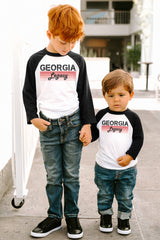 "Georgia Bulldogs ""Campus Legacy"" Youth Raglan - Gameday Couture"