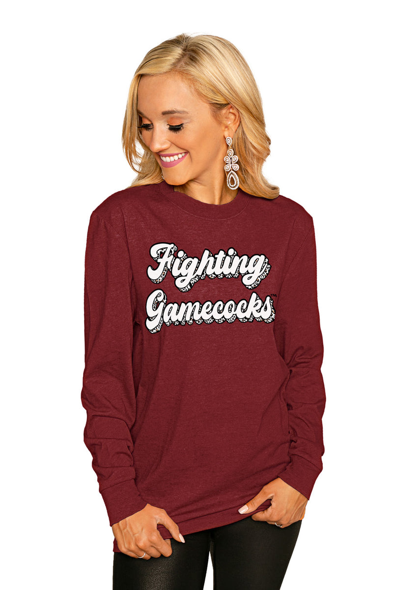 "South Carolina Gamecocks""Game Plan"" Luxe Boyfriend Crew Tee - Shop The Soho"