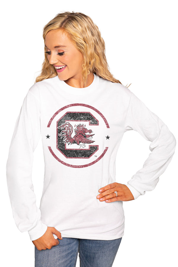 "South Carolina Gamecocks ""End Zone"" Luxe Boyfriend Crew Tee - Shop The Soho"