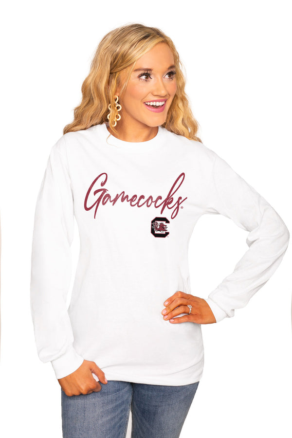 "South Carolina Gamecocks ""Win The Day"" Luxe Boyfriend Crew Tee - Shop The Soho"