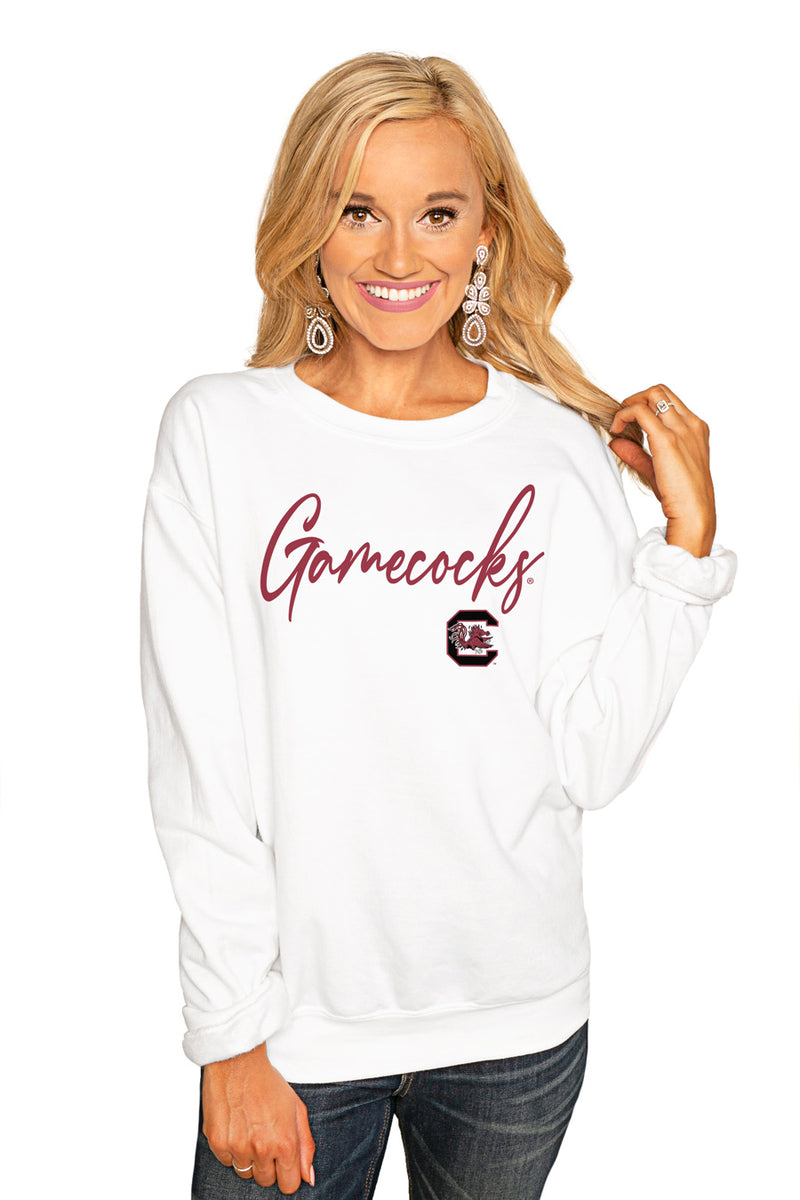"South Carolina Gamecocks ""Win The Day"" Perfect Cozy Crew Sweatshirt - Gameday Couture"