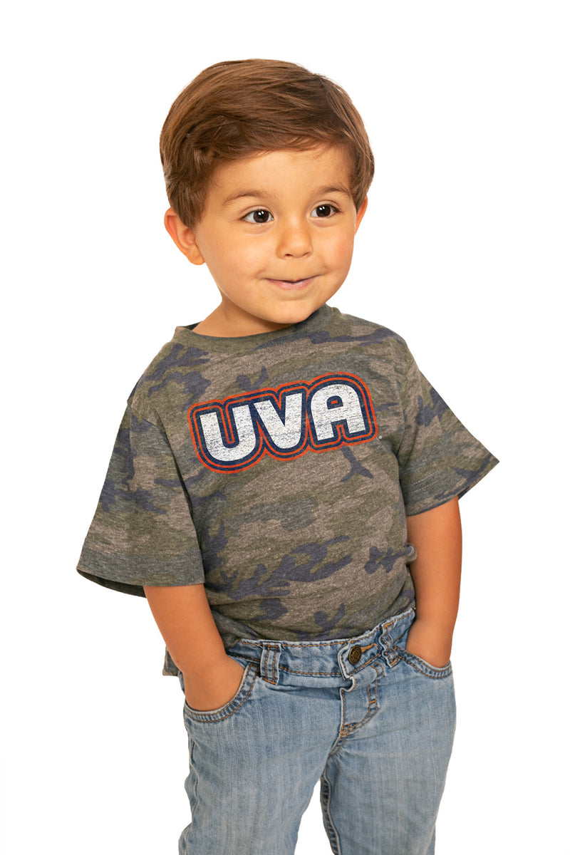 "Virginia Cavaliers ""It's A Win"" Camo Toddler Tee - Gameday Couture"