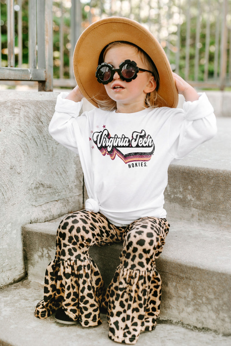 """Vivacious Varsity Star"" Toddler Long-Sleeved Tee - Gameday Couture"