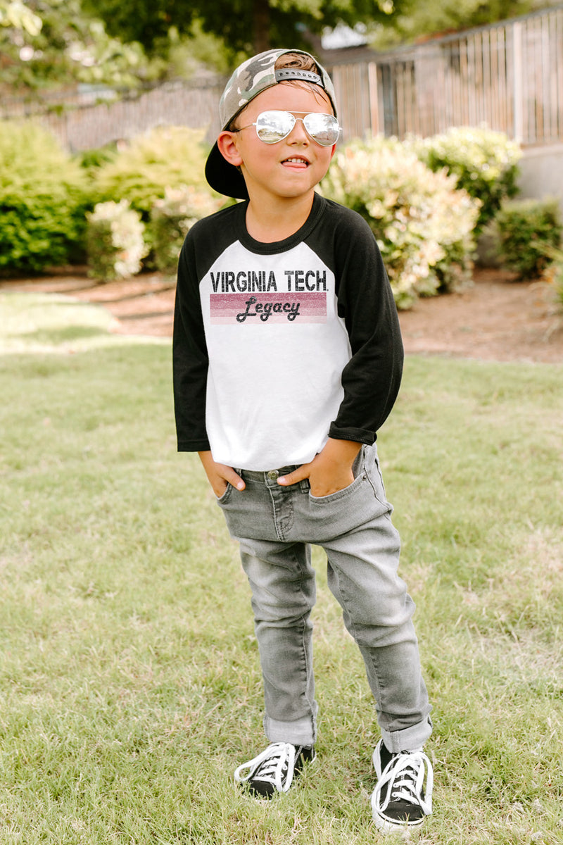 "Virginia Tech Hokies ""Campus Legacy"" Youth Raglan - Gameday Couture"