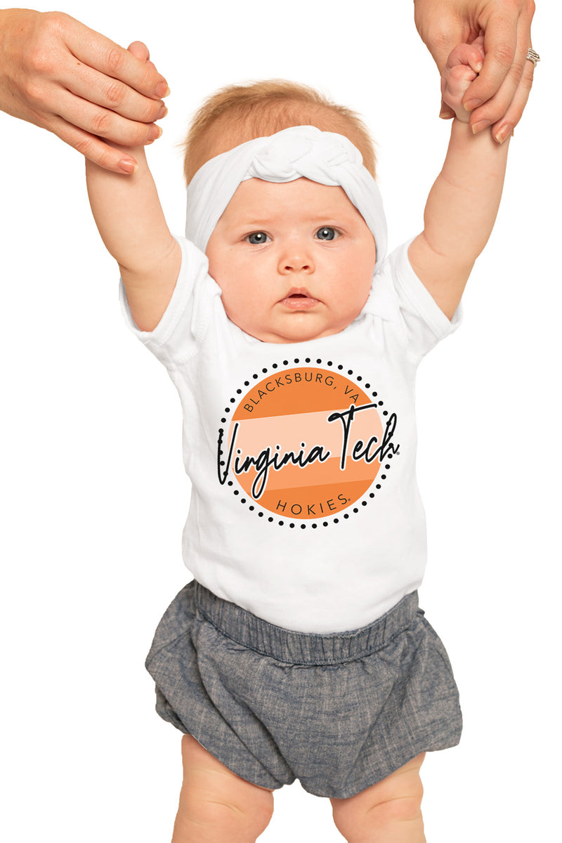 "Virginia Tech Hokies ""Faded and Free"" Onesie - Gameday Couture"