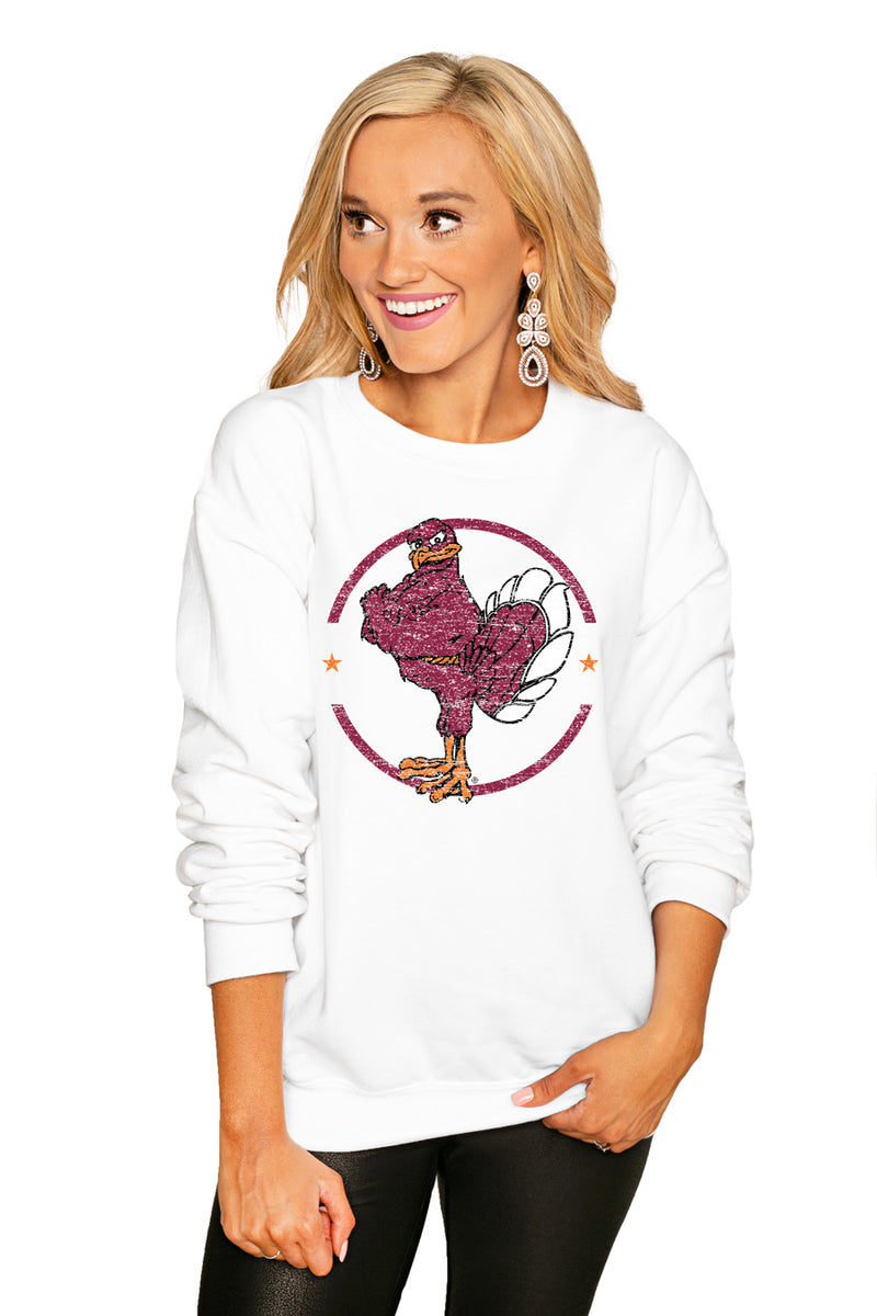 "VIRGINIA TECH HOKIES ""END ZONE"" PERFECT COZY CREW SWEATSHIRT - Gameday Couture"
