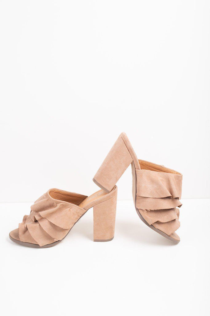 "The ""Walk to You"" Ruffled Heels"