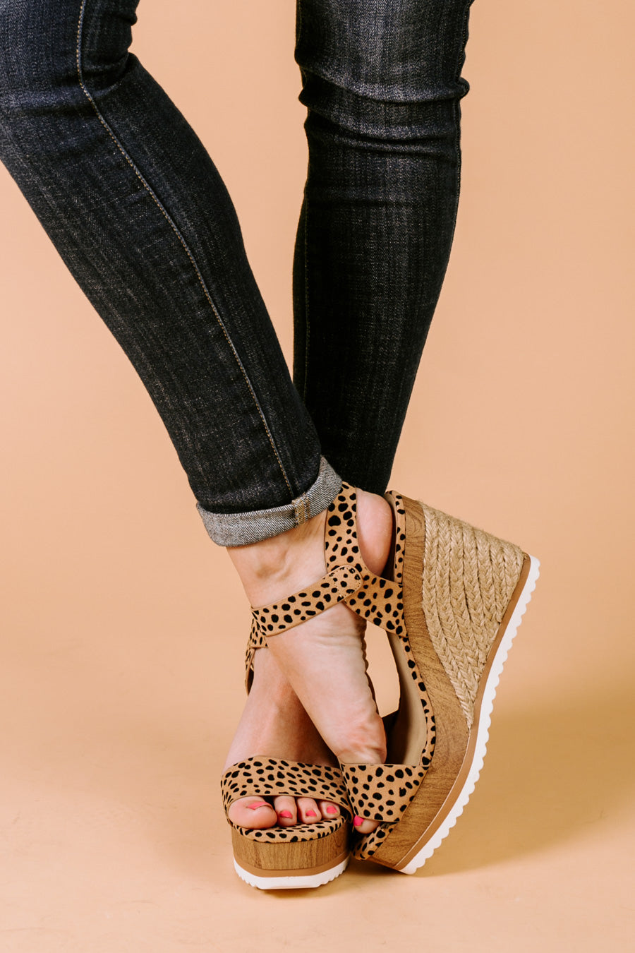 "The ""Walking On Sunshine"" Wedges in Leopard"