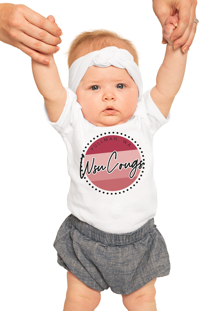 "Washington State Cougars ""Faded and Free"" Onesie ""Faded and Free"" Onesie - Gameday Couture"