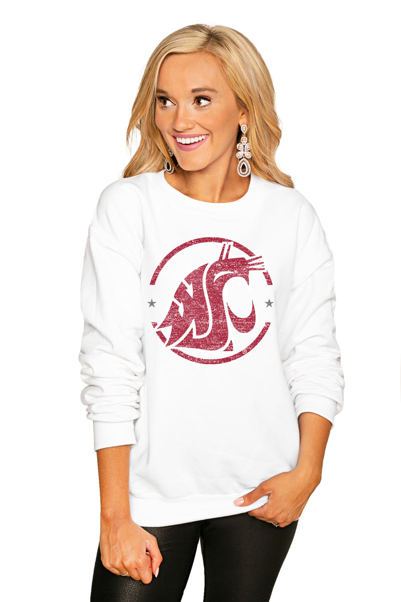 "WASHINGTON STATE COUGARS ""END ZONE"" PERFECT COZY CREW SWEATSHIRT - Gameday Couture"