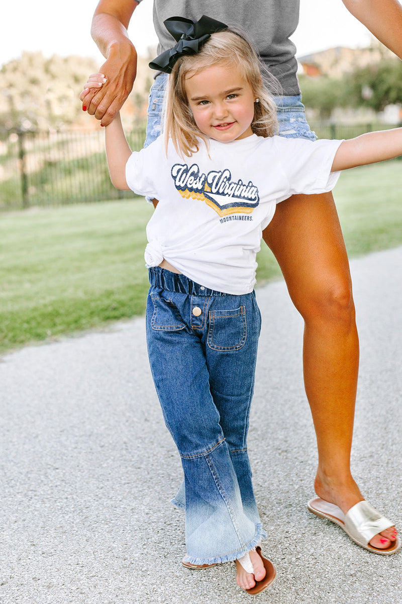 "West Virginia Mountaineers ""Vivacious Varsity"" Toddler Tee - Gameday Couture"