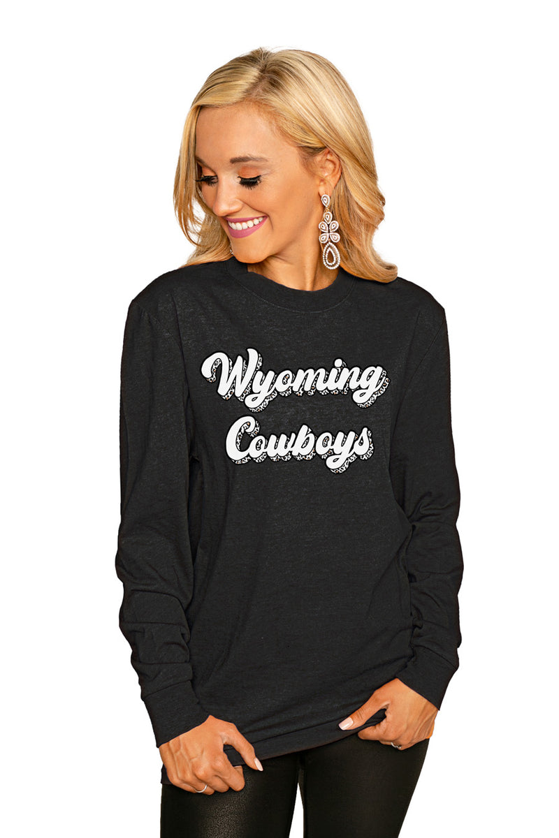 "Wyoming Cowboys""Game Plan"" Luxe Boyfriend Crew Tee - Shop The Soho"