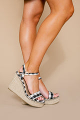 "The ""Step By Step"" Wedge Heels in Black - Gameday Couture"