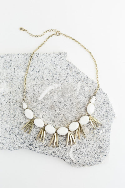 The Stella Necklace in White