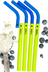 Patented Two Piece Adjustable Length Reusable Silicone Straws