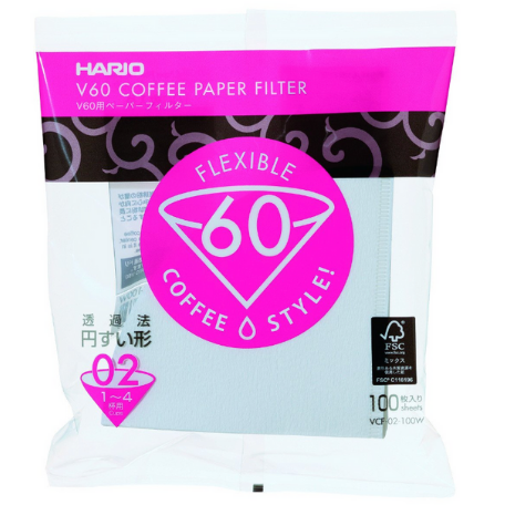 Hario V60 Dripper Paper Filters Pack of 100