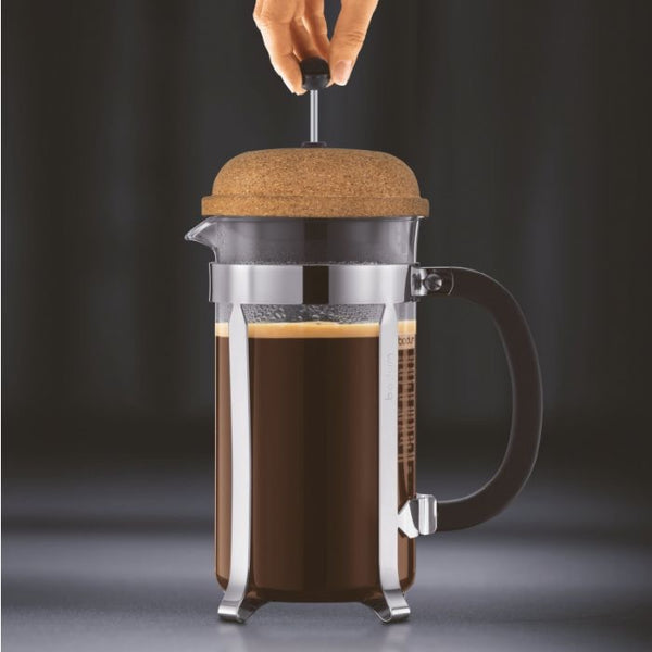 BODUM CHAMBORD COFFEE MAKER 8 CUP 1.0L/34OZ - GLASS, CORK LID