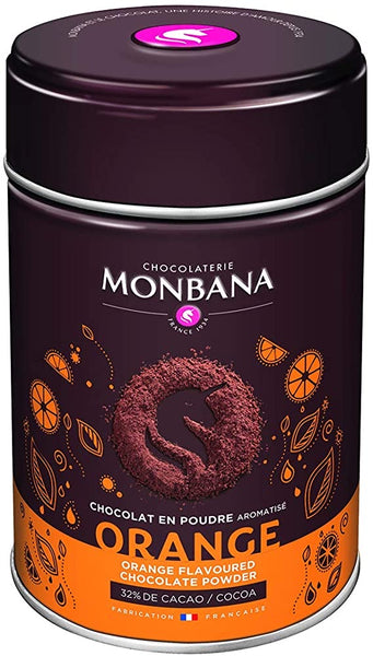 Monbana Orange Chocolate Powder Tin 250 g