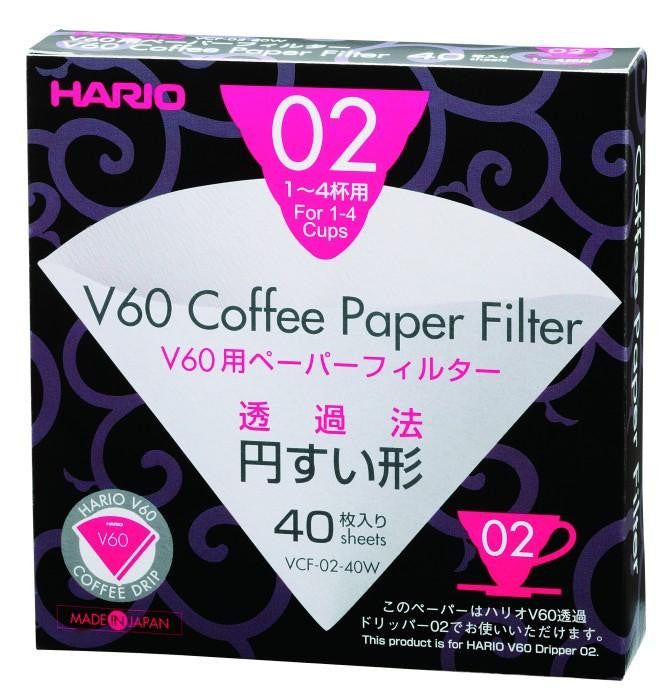 Hario V60 Paper Filters (S02) Pack of 40