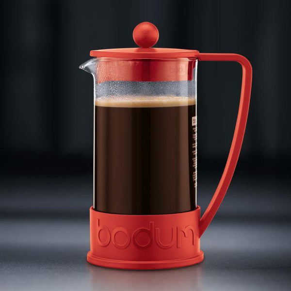 Bodum Brazil French Press Coffee Maker 3 Cup 0.35l 12 OZ - Red
