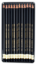 Load image into Gallery viewer, Koh-I-Noor 1900 Toison D'Or Professional Graphite Pencils Set 8B - 2H Tin