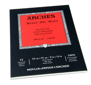 Arches Oil Paper Cold Pressed 300g Natural White