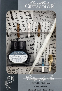 Brevillier's Cretacolour Calligraphy Set 7pc
