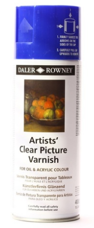 Daler-Rowney Artists' Clear Picture Aerosol Varnish Oil & Acrylic 400ml