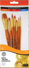 Load image into Gallery viewer, Daler-Rowney Synthetic Gold Taklon Brushes