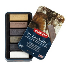 Load image into Gallery viewer, Derwent XL Charcoal Professional Quality 6 Blocks