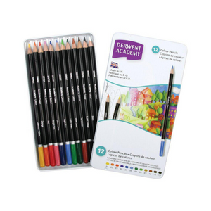Derwent Academy Colour Pencils 12's