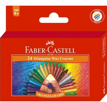 Load image into Gallery viewer, Faber Castell Wax Crayons Triangular