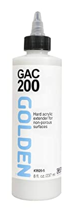 GOLDEN GAC 200 Hard Acrylic Extender for Non-Porous Surfaces