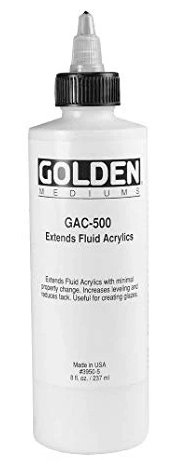 GOLDEN GAC 500 Gloss Extender for Fluid Acrylic Colours