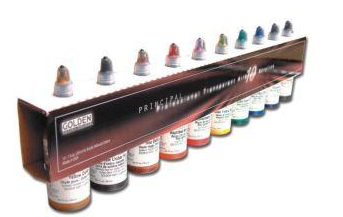 GOLDEN Principal Professional Transparent Airbrush Acrylics 10 colours