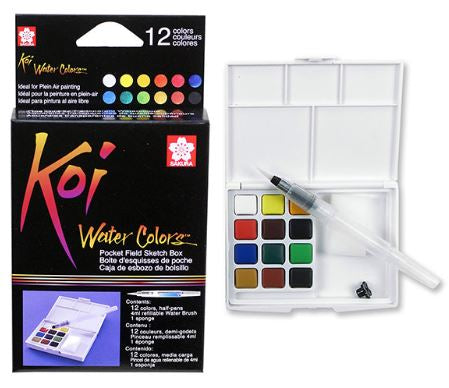 Koi Watercolours Half Pans