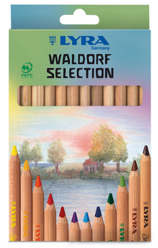 LYRA Super FERBY Unlacquered Waldorf Selection box 12 pcs