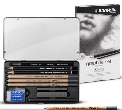 LYRA Graphite Set Metal Box 11 pcs