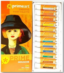 Prime Art Prime Gouache 12 Piece Set