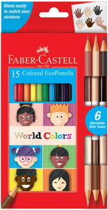 Faber-Castell 15 Colored EcoPencils World Colors