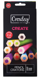 Croxley Create Pencil Crayons Set of 12