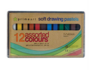 Prime Art Soft Pastels (Set of 12 Assorted Colours)
