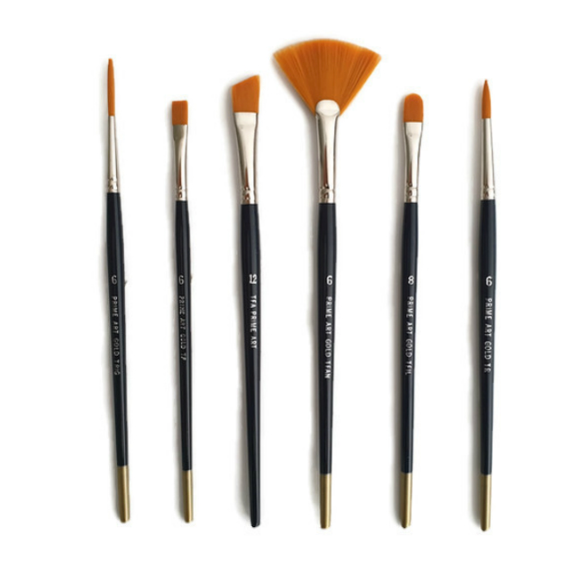 Dynasty Black Gold Quill Brushes