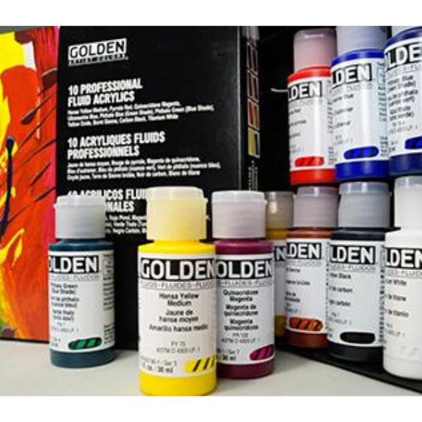GOLDEN Principal 10 Professional Fluid Acrylic Set