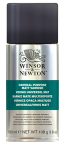 Winsor & Newton All Purpose Matt Varnish Spray 150ml